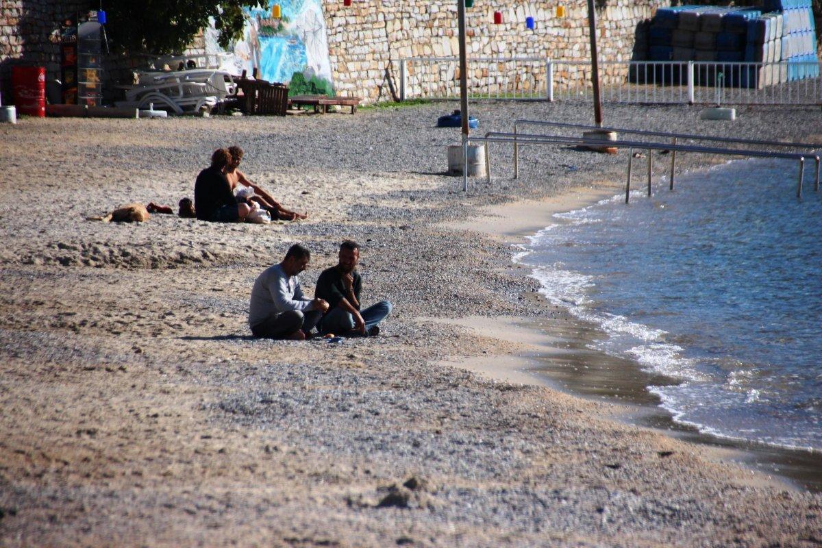 Bodrum da denizin keyfini sokağa çıkma kısıtlamasında çıkardılar #4
