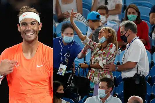 Rafael Nadala orta parmak gösteren kadın dışarı çıkarıldı
