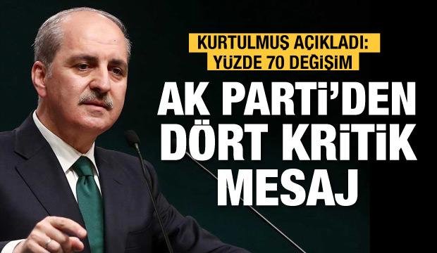 AK Parti'den işte o 4 madde