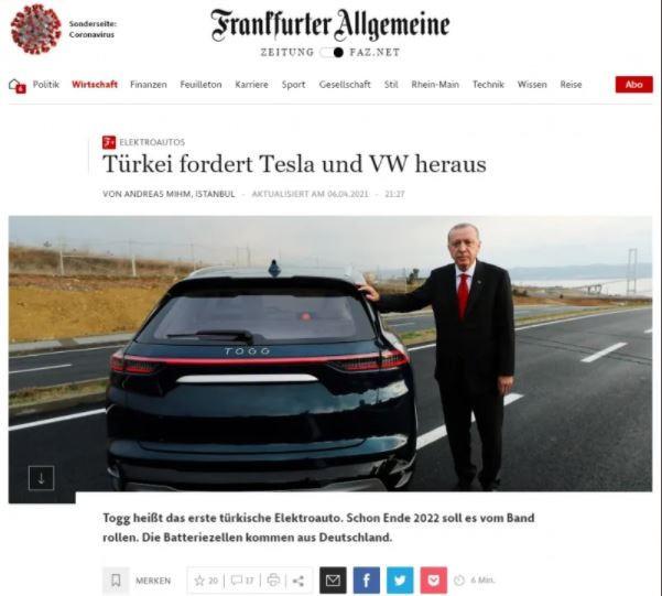 Alman Basını Kaleme Aldı: Türkiye, Tesla ve Volkswagen'e Meydan Okuyor3545456