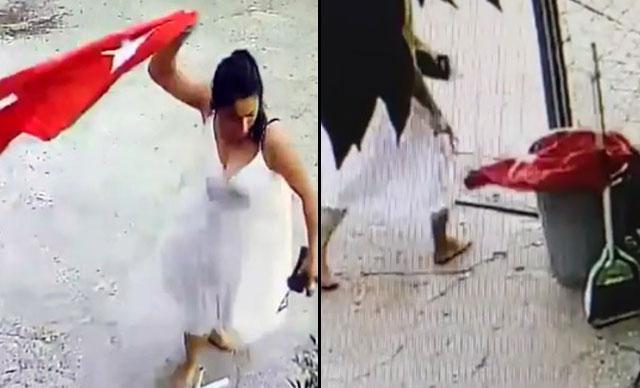 Türk bayrağına çirkin saldırı! Koparıp yere attı