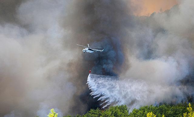 Köyceğizde helikopter düştü iddiasına açıklama